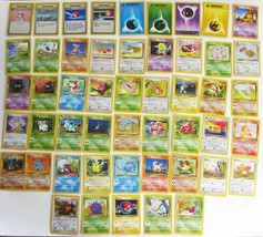 Vintage Pokemon Game Cards Lot Of 50 Different Fossil Jungle UNUSED MINT Wizards - $33.56