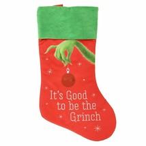 Dr Suess Christmas Stocking Grinch (Good to be The Grinch) - $18.95