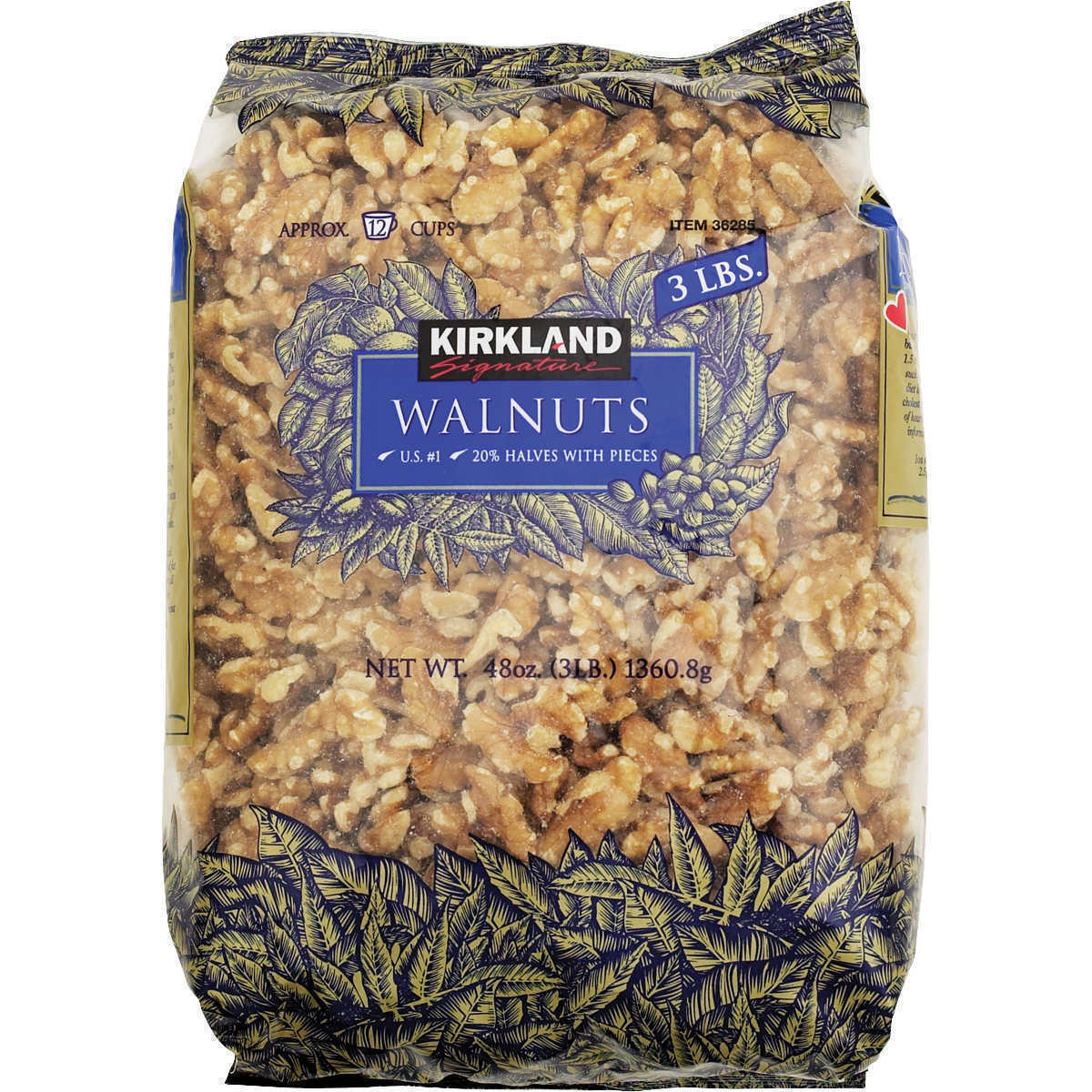 Primary image for Kirkland Signature Walnuts 3 Pounds (48 OZ) (Pack Of 3)