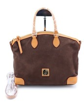 NWT Dooney & Bourke Brown Nubuck Suede Leather Satchel Shoulder Bag New $298 - $189.00