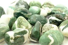 6X Green Sardonyx Tumbled Stones LG 20-30mm Reiki Healing Crystals Good ... - $9.99