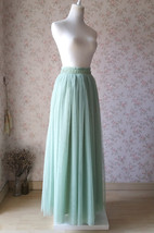SAGE GREEN Bridesmaid Tulle Skirt Sage Green 2020 Wedding Outfit High Waist Maxi image 3