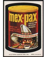 Vintage wacky packages MEX-PAX Coffee for Bandits 1974 Topps Series 7 hi... - $19.99