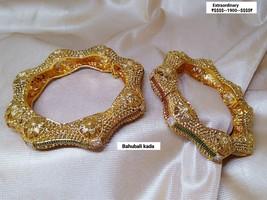 Kada Bangle Gpld Polish Bracelet Kangan Hand Rings Bollywood Ethnic Chud... - $63.26
