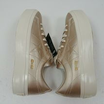 Converse One Star Platform Ox Low Top Shoes Gold 559924C Womens Size 10 NWT image 5
