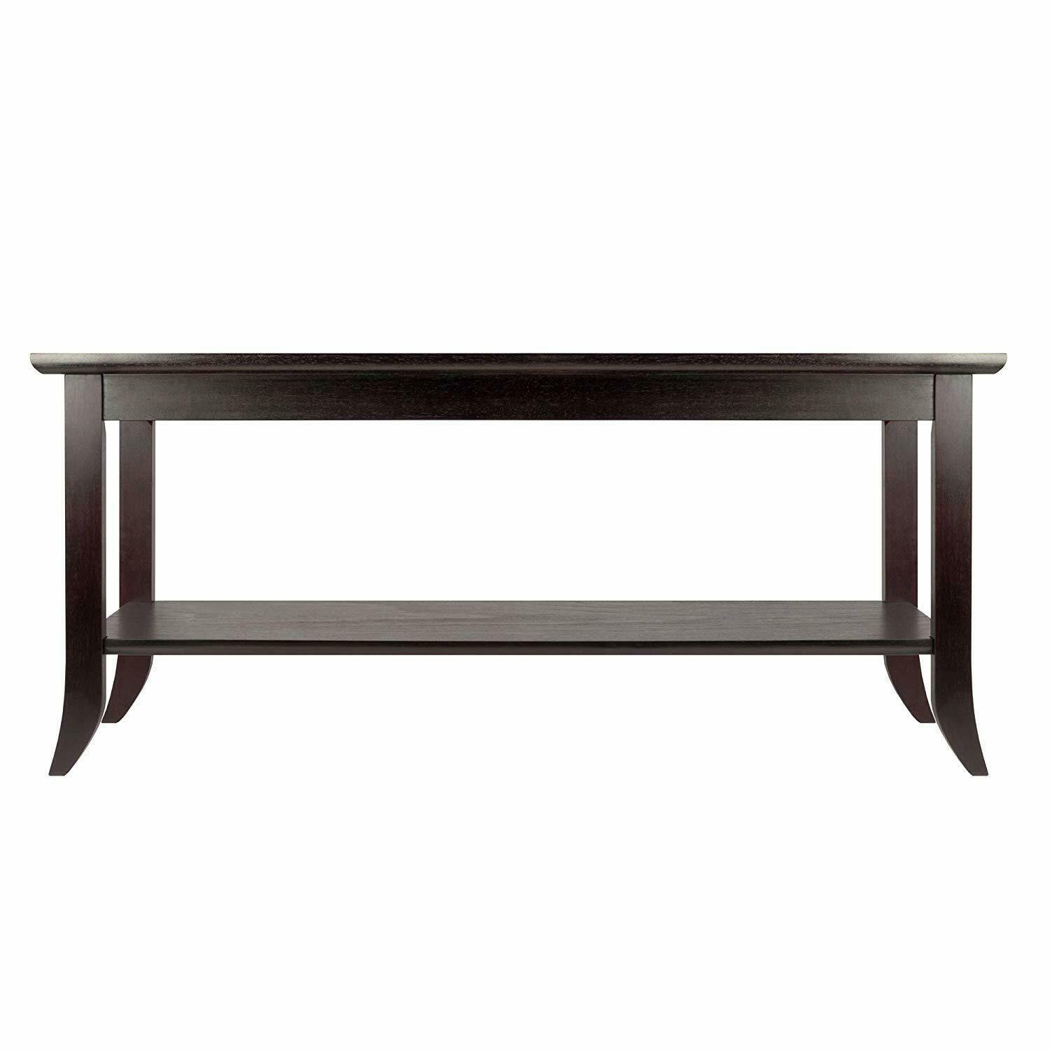 Winsome Genoa Rectangular Coffee Table With Glass Top And