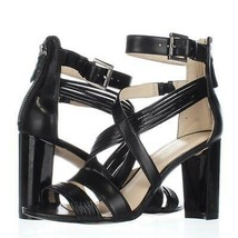 Nine West Norita Strappy Dress Sandals, Black/Black, 5 US Display - $31.67