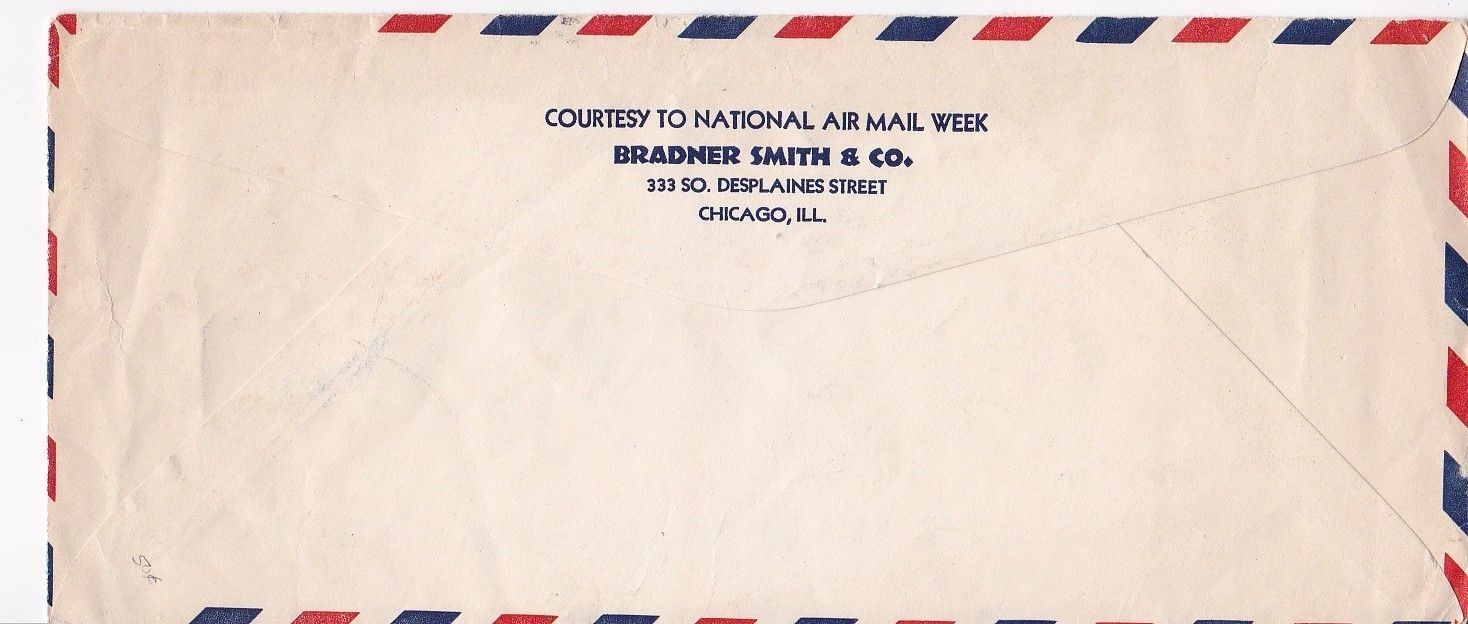 NATIONAL AIR MAIL WEEK CHICAGO, IL MAY 18, 1939 CHIEF