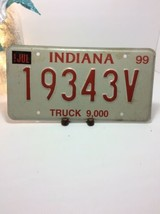 Vintage Indiana License Plate -  - Single Plate 1999 image 2