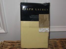Ralph Lauren Luxury Oxford Yellow King Pillowcases Nip - $59.80