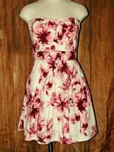 Charlotte Russe Strapless Floral Purple Pink Short Summer Tulle Poof Dre... - $13.86