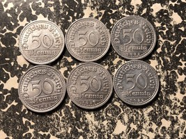 1922-G Germany Weimar Republic 50 Pfennig (6 Available) Nice! (1 Coin Only) - $4.00