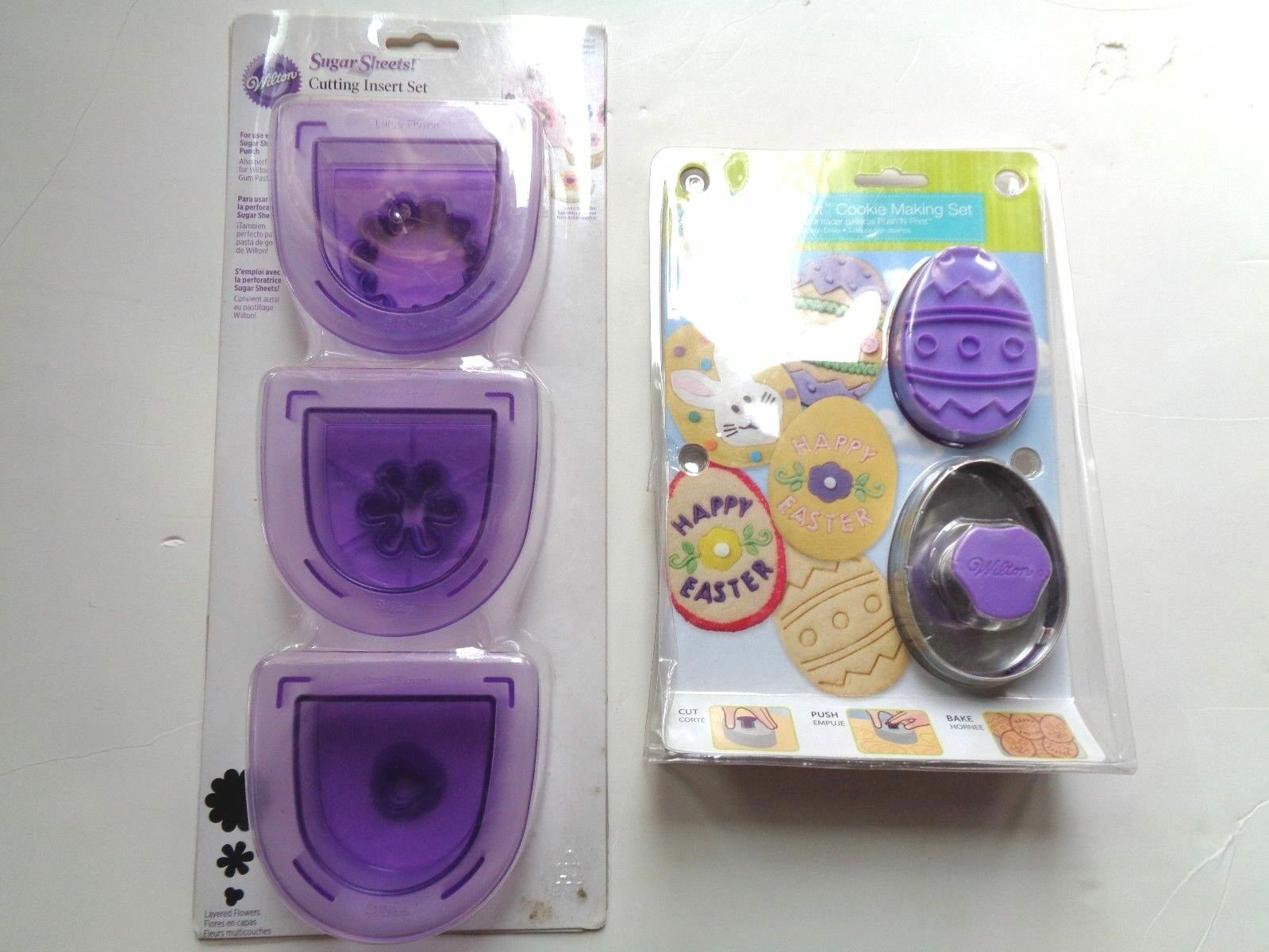 Primary image for NEW WILTON EASTER PUSH 'N PRINT COOKIE MAKING SET & WILTON CUTTING INSERT SET