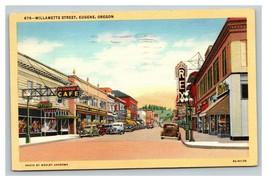 Vintage Wesley Andrews & Co Linen Postcard Willamette Street Eugene Oregon  - $12.84