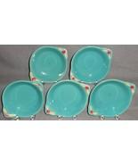 Set (5) Coors Pottery GREEN ROSEBUD PATTERN Lugged Dessert Bowls COLORADO - $168.29