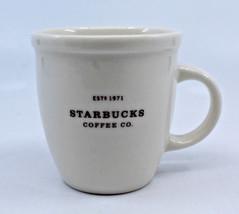 Starbucks Coffee 2006 Est 1971 Coffee Co.White Espresso Demitasse Mug Cup 3 oz - $22.78
