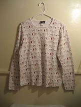 LEE womens long sleeve shirt, size large (shirt is great for canine lovers) - $15.98