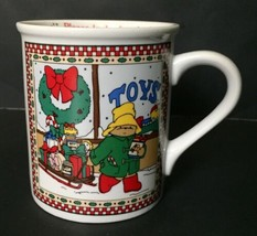 Vintage Paddington Bear Coffee Mug Eden Toys Holiday Cup Teddy 1991 Enes... - €16,28 EUR