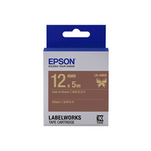 12mm Gold on Brown - Epson LABELWORKS LK-4NKK Ribbon Tape Cartridges (Pa... - $82.99