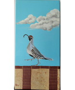 Original Acrylic Painting on Canvas High Stepping Quail by Artist Free S... - $37.00