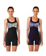 Women Swimwear Boy Shorts Ladies One Piece Swimsuit Bathing Suit Rash Guard - $36.95