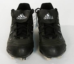 Adidas Spinner 7 Low Baseball Cleats Shoes Softball Black Mens NEW - $44.99