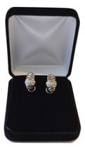 Stunning 0.72 Carat Diamond 18K Sterling Large J-Hoop Earrings Yurman - $569.25