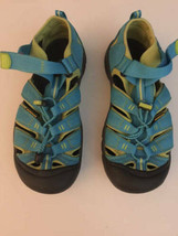Keen Waterproof Sport Turquoise Blue Lime Hiking Sandals Sz 6 kids 7.5 womens - $37.61