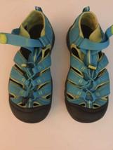 Keen Waterproof Sport Turquoise Blue Lime Hiking Sandals Sz 6 kids 7.5 w... - $37.61