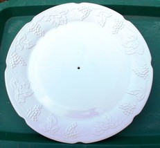 "~~ Vintage Indiana White Milk Glass Harvest Grape 14"" Serving Plate Plat... - $12.00"