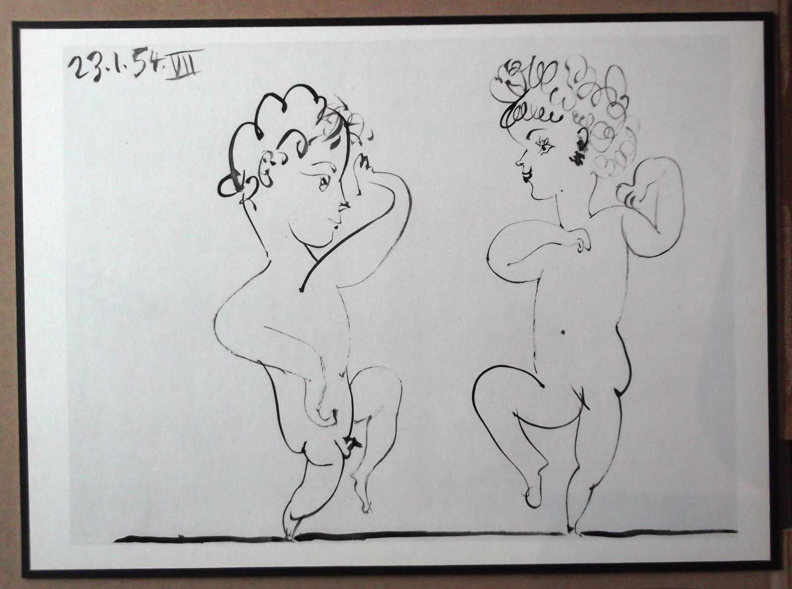 PICASSO ENGRAVING DATED 1954 +COA RARE ART INVESTMENT OPPORTUNITY or UNIQUE GIFT