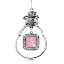 Inspired Silver Pink Class of 2020 Classic Snowman Holiday Christmas Tree Orname - $14.69