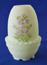 Fenton Pink Blossom Fairy Lamp # 7300 Signed Patsy Hesson - $44.55