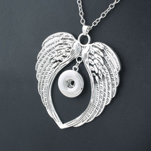2017 New Fashion Beauty  Pendant Wings Snaps necklace fit DIY 18MM snap ... - $8.14