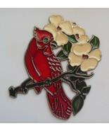 """Red Cardinal Bird, Flowers Sun Catcher 5.7/8"""" x 4.1/8"""" - $18.99"""