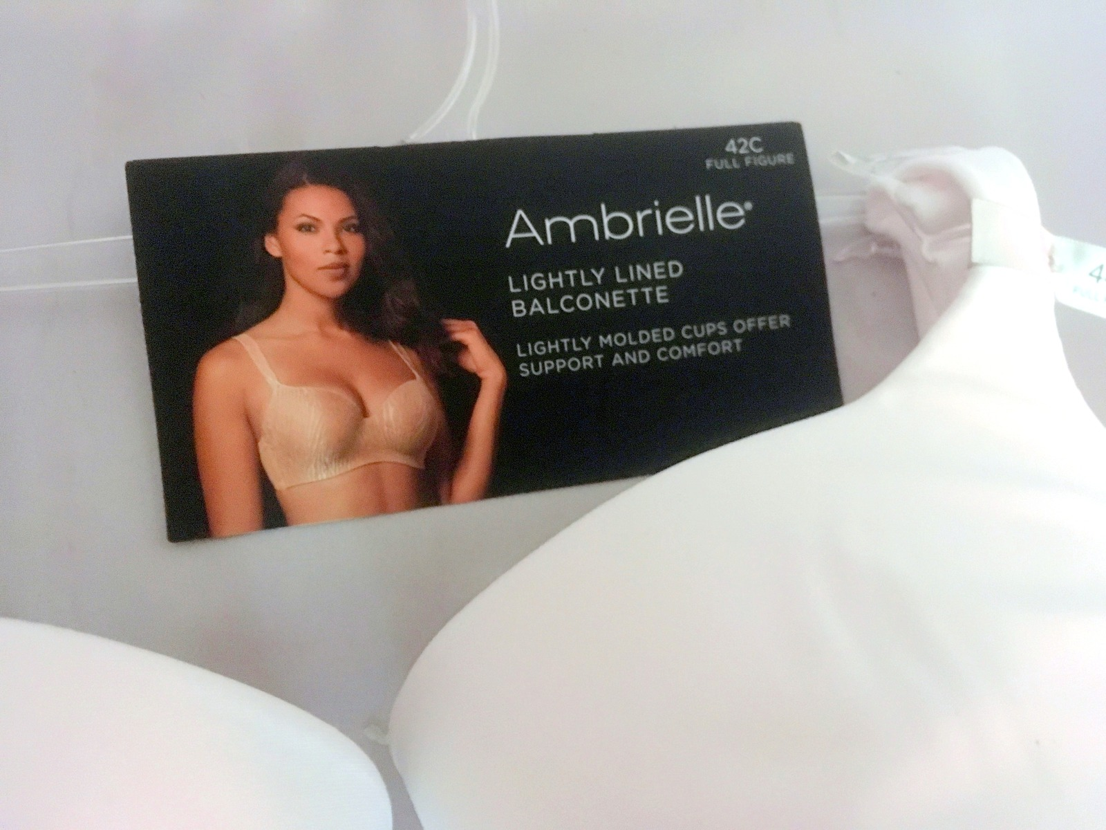 8a8010811c White Bra, Ambrielle, 44C, Balconette, Full and 50 similar items
