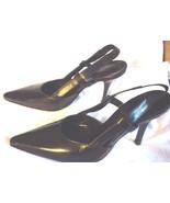 Furla Black Leather Slingback Shoes - $150.00