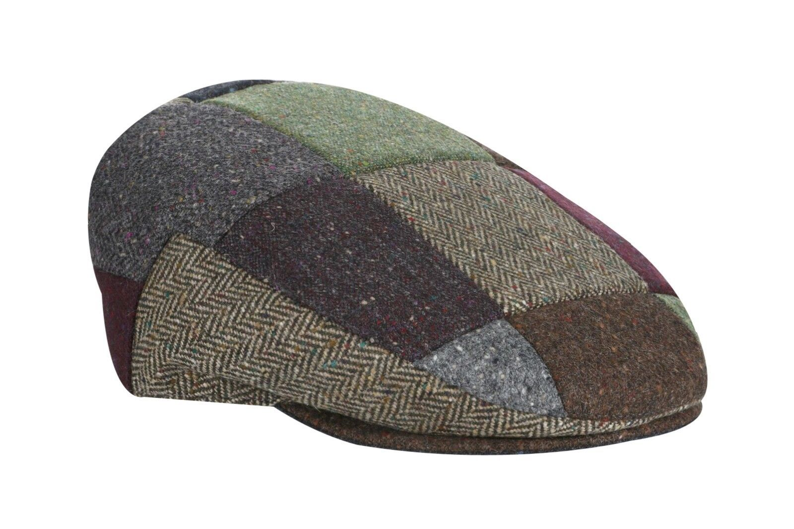 9f7de7c01a3f2 100% Donegal Tweed Flat Patch Cap - Multi - and 50 similar items