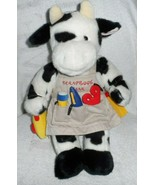 "Build a Bear Cow with a scrapBook Theme 18"" w/ stand - $18.00"