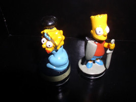 The SimpsonsLBart  & Lisa Simpson Black & Grey Base 2 PVC Figurines - $19.99