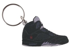 Good Wood NYC Metallic 5 Black Sneaker Keychain Blk V Shoe Key Ring key Fob