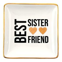 RELISSA Sister Gifts from Sister, Ring Holder Decorative Trinket Dish (Sister)