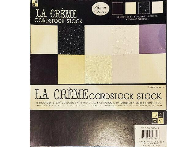 DCWV La Crème Cardstock Stack, 8x8 Inches #PS-006-00044