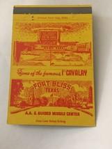 Vintage Matchbook Cover Matchcover 40 Strike US Military Fort Bliss TX - $5.70