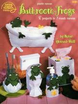 Bathroom Frogs in Plastic Canvas American School Leaflet 3181 8 Designs  - $6.95