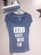 "Aeropostale Womens ""Girls Have More Fun"" - Graphic T-Shirt - Medium - $5.93"