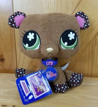 LPS Littlest Pet Shop VIPs Plush Bear With Code Interactive Brown Stuffed - $19.79
