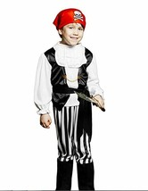 Kids Boys Rogue Pirate Halloween Costume High Seas Buccaneer  - ages 3-6 - £9.58 GBP