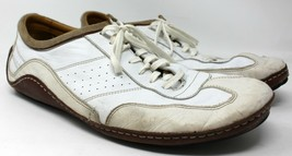 G series  Haan 14 M white leather Cole driving shoe moccasin brown men air sole - $56.09