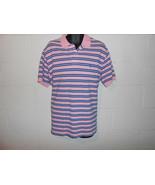 Ralph Lauren Polo Pink Blue Stripe Short Sleeve Polo Shirt XL - $9.99